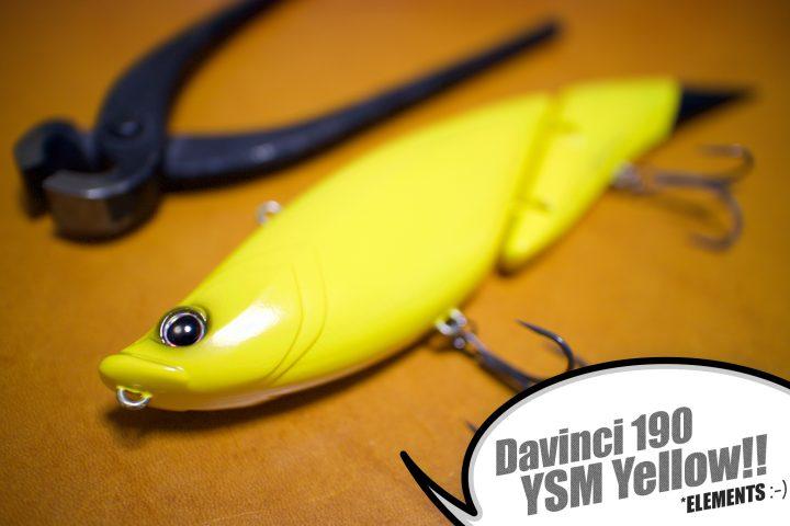 YSM YELLOW!黄色のダヴィンチもご到着♪【Davinci 190:ELEMENTS】