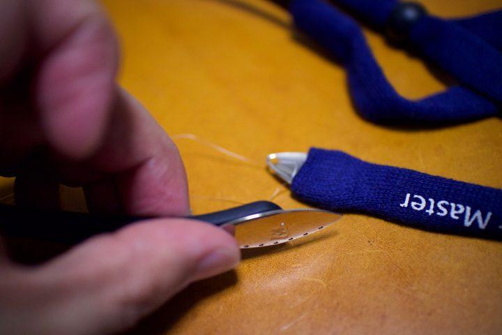 サイトマスターキネティックにコットンリテイナーを装着する方法